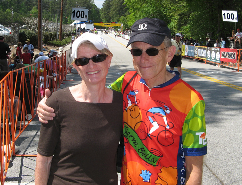 Franz and Ann at Stage 6 of Tour de Georgia