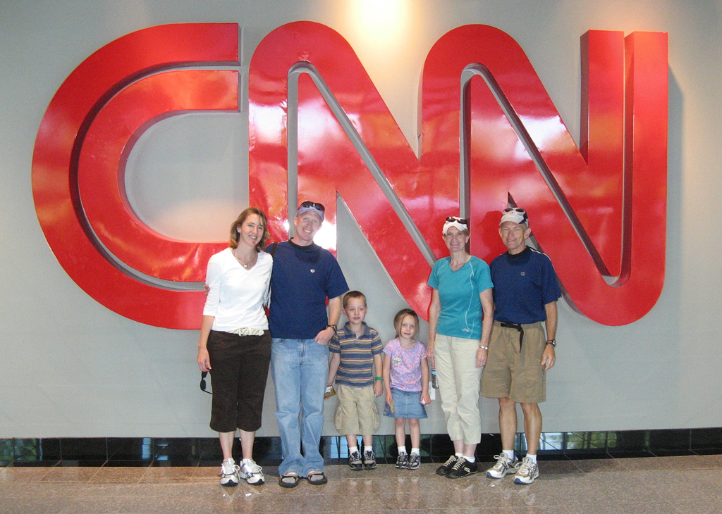 Family at CNN Building during Tour de Georgia