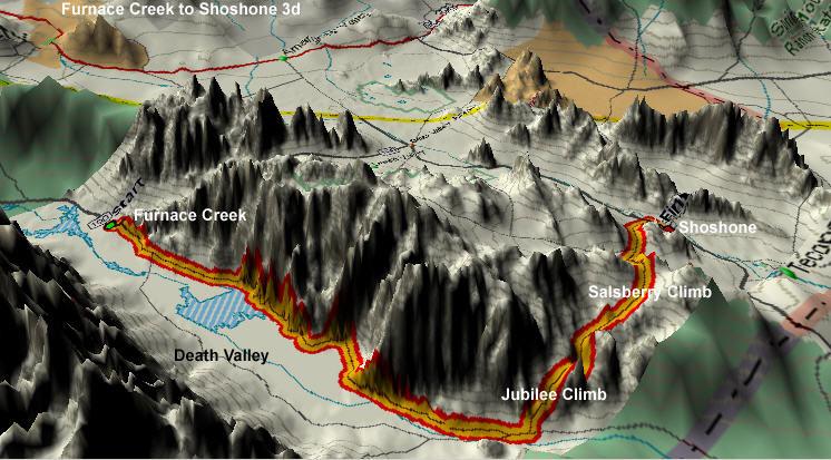Furnace Creek to Shoshone 3D